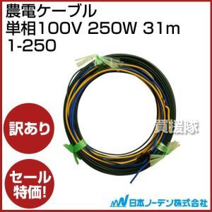 訳あり品 日本ノーデン 農電ケーブル 単相100V 250W 31m|truetools