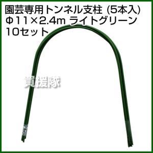 セキスイ 園芸専用トンネル支柱 5P 11Q-2.4A ライトグリーン 50本セット|truetools