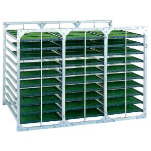 昭和ブリッジ 苗箱収納棚 120枚・水平収納|truetools
