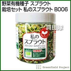 グリーンフィールド 野菜有機種子 スプラウト栽培セット 私のスプラウト もやしタイプ/ブロッコリー and ラディッシュ 栽培セット B006 truetools