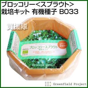 グリーンフィールド ブロッコリー スプラウト 栽培キット 有機種子 B033|truetools