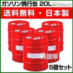 ガソリン携行缶 20L 5缶セット 消防法適合品 GX-20-5S|truetools