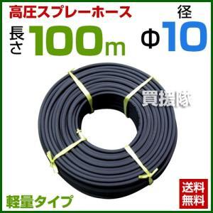 動噴ホース 軽量 10mm 100m 継手 金具付 農業用スプレーホース 農業 消毒 ホース|truetools