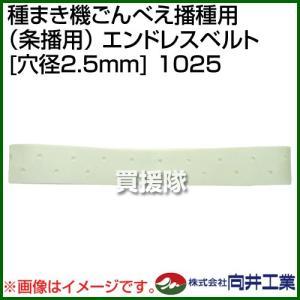 向井工業 種まき機ごんべえ播種用 条播用 エンドレスベルト 穴径2.5mm 1025|truetools
