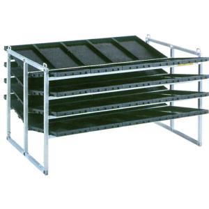 昭和ブリッジ 苗箱収納棚 40枚・斜め収納 NC-40K|truetools