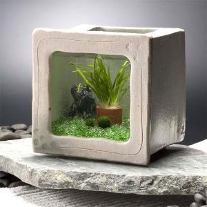 カミハタ 和風アクアリウム 陶器角水槽セット|truetools