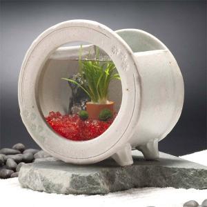 カミハタ 和風アクアリウム 陶器丸水槽セット|truetools