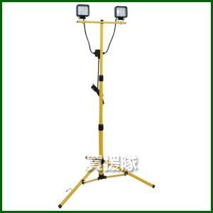 鯛勝産業 18W LED投光器 コード二芯3M付 三脚スタンド 2灯式 TKS-182|truetools