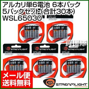 アルカリ単6電池 6本×5パッケージセット 合計30本 WSL65030|truetools
