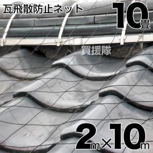 屋根瓦飛散防止用ネット 10畳 2mx10m|truetools