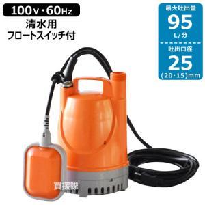 工進 水中ポンプ 60Hz YK-625A 口径:25mm/電圧:AC-100V/出力:180W|truetools