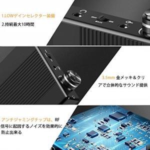 ヘッドホンアンプ 高音質 ハイレゾ対応 Bass Gain機能 低音強化 3.5mmジャック 携帯便...