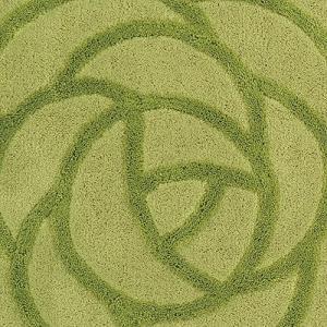 センコー SDS ローズ 薔薇をかたどった トイレマット グリーン 約80×60cm 18072|trust-trade