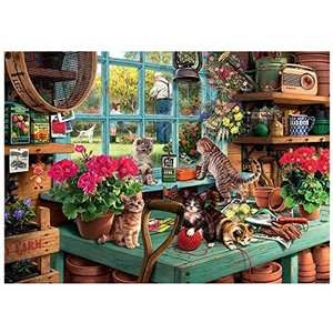 Cat and Gardening counted cross stitch kits 14 ct,...