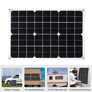 ソーラーチャージャー Decdeal 最新品 ソーラーパネル ソーラー充電器 30W 18V 太陽光発電 IP65防水 USBポート 単結晶 超薄|trust-trade