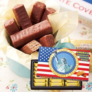アメリカ土産 アメリカ チョコウエハース(袋付)1箱(アメリカ土産 アメリカお土産チョコレート) ID:E7050542