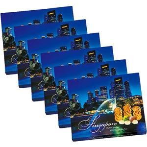 シンガポール お土産 ギフト プレゼント マーライオン マカデミアナッツクッキー 6箱セット 食品 クッキー ビスケット ナッツ ID:86140027