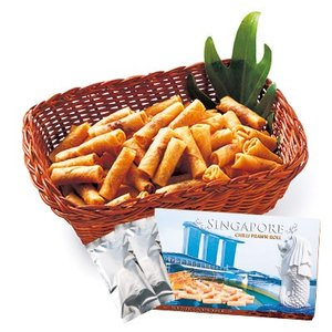 6%OFFクーポン シンガポール お土産 シンガポール土産 ギフト チリプラウンロール 1箱 食品 菓子 スイーツ スナック ID:80653230