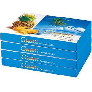 割引 お土産 在庫処分 セール お菓子 食品ロス フードロス グアム パイナップルジャムクッキー 4箱セット クッキー ビスケット ID:11950200