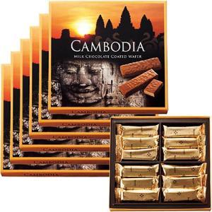 6%OFFクーポン カンボジア お土産 ギフト チョコウエハース 6箱セット 食品 菓子 スイーツ クッキー ビスケット ID:80654461|trv