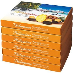 6%OFFクーポン フィリピン お土産 フィリピン土産 ギフト パイナップル チョコレートクッキー 6箱セット 食品 菓子 スイーツ クッキー ビスケットID:80654533|trv
