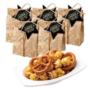 アメリカ お土産 ギフト プレゼント プレッツェル&キャラメルポップコーン 6袋セット 食品 菓子 スイーツ ID:80650997