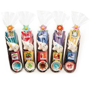 タイ お土産 ギフト プレゼント ぞうさんアロマお香 5コセット 家庭用品 インテリア用品 ID:86140156