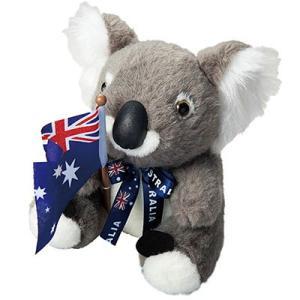 オーストラリア お土産 フラッグコアラ ぬいぐるみ ID:E7051115