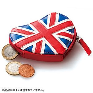 イギリス お土産 土産 みやげ おみやげ / ハート形 コインパース ユニオンジャック  印象的なユ...