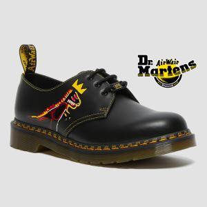 ドクターマーチン 国内正規品 Dr.Martens BASQUIAT バスキア 3ホール ブーツ レディース メンズ1461 27186001 コラボ JEAN-MICHEL BASQUIAT つるや PayPayモール店