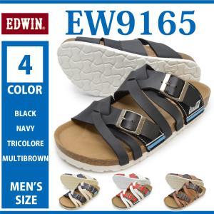 EDWIN エドウィン/EW9165/メンズ サンダル サマーシューズ カジュアル 海 川 山 プール 海水浴 キャンプ ベルト コンフォート 軽量 ラクチン お出かけ 買い物|try-group
