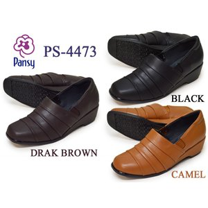 パンジー Pansy レディース シューズ 4473 BLACK DARK BROWN CAMEL 抗菌 低反発 try-group