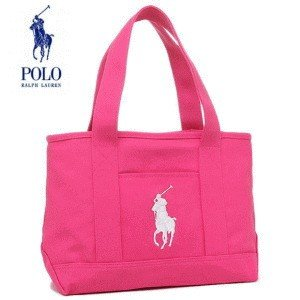 POLO RALPH LAUREN 新品 トートバッグ レディース ポロ 959011A SCHOOL TOTE MD ミディアム キャンバス 手さげバッグ ピンク FUCHSIA/WHITE/FLORAL LINING|try3