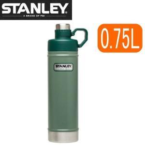 =ポイント2倍= 水筒 スタンレー STANLEY クラシック 真空断熱 ウォーターボトル 0.75L 750ml ステンレス アウトドア キャンプ 直飲み 保冷 保温 緑 グリーン|try3