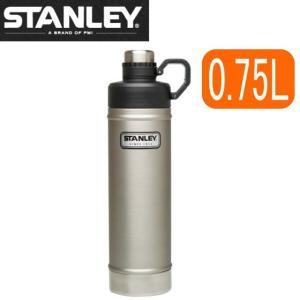 =ポイント2倍= 水筒 スタンレー STANLEY クラシック 真空断熱 ウォーターボトル 0.75L 750ml ステンレス キャンプ 直飲み 保冷 保温 シルバー 銀 ポイント2倍|try3