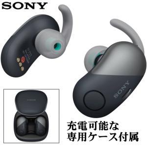 SONY ソニー ワイヤレスノイズキャンセリングステレオヘッドセット WF-SP700N BM ブラ...