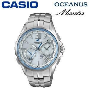 カシオ オシアナス 世界限定800本 腕時計 チタンバンド 10気圧防水 タフムーブメント スマートアクセス タフソーラー 電波時計 OCW-S3400H-7AJF マンタ|try3