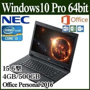 =ポイント2倍= ノートパソコン ノートPC NEC Office オフィス Win 10 第6世代 Core i3 4GB 500GB HDMI カードスロット タイプVX-T PC-VJ23LXA6DBTTZDZZY
