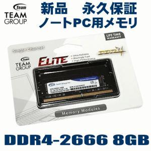 増設メモリ TEAM チーム  ノートパソコンメモリ 8GB TED48G2666C19-S01 PC4-21300 DDR4 2666MHz 8GB 1枚組 DDR-2666 オーバークロック|try3