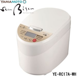 山本電気 精米機 YE-RC17A-WH ホワイト 美鮮 Bisen 日本製 小型  ライスクリーナー Shin Bisen 家庭用精米機 YERC17AWH |try3