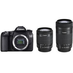 新品 CANON キヤノン EOS 70D ダブルズームキット デジタル一眼レフカメラ 2020万画素 キャノン イオスシリーズ 無線LAN機能内蔵モデル EOS70DWZK