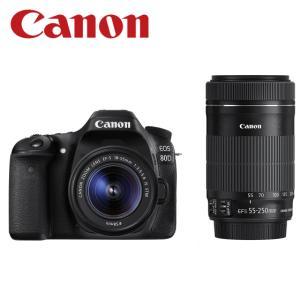 Canon EOS 80D ダブルズームキット 一眼レフ デ...