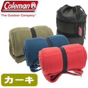 Coleman コールマン フリース 寝袋 スリーピングバック カーキ SLEEPING BAG コ...