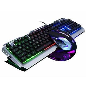 【キーボードマウスセット】キーボード、マウス共に有線接続で安定したプレイ環境を実感出来ます。有線なら...