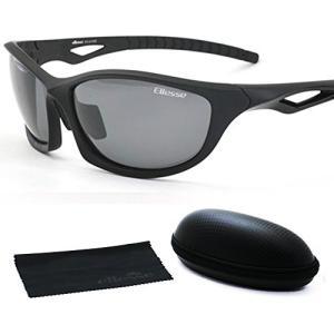 エレッセ スポーツサングラス メンズ 偏光レンズ ES-S203H ブラックマット/ブラック