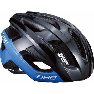 BBB ヘルメット カイト L グロッシーブラック/ブルー BHE-29|trycycle