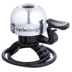 ポイント11倍 CD(サイクルデザイン) ベル 30MM 22.2-31.8MM アルミ シルバー|trycycle