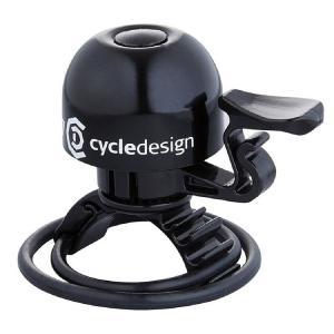 ポイント11倍 CD(サイクルデザイン) ベル 30MM 22.2-31.8MM アルミ ブラック|trycycle