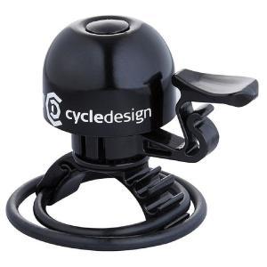 ポイント11倍 CD(サイクルデザイン) ベル 30MM 22.2-31.8MM ブラス ブラック|trycycle