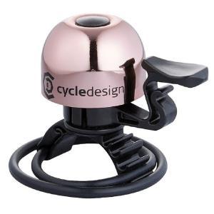 ポイント11倍 CD(サイクルデザイン) ベル 30MM 22.2-31.8MM ブラス ローズゴールド|trycycle
